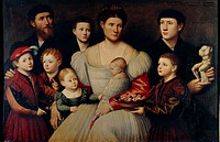 Bernardino Licinio (1489-1560), Portrait of a Family  Rome, Galleria Borghese (Archaeological And Art Museum)