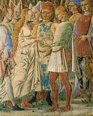 Italy, Ferrara, Palazzo Schifanoia, The Hall of the Month, The month of June by Francesco del Cossa 1436_1478, 1468_1470, fresco, detail