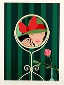 Amleto Dalla Costa (1929), Woman Before a Mirror, serigraph.