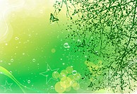 Green Card with tree and butterfly
