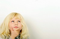 Stock Photo of child thinking
