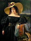 Giuseppe Colzi De Cavalcanti (1803-1838), Portrait of Carlotta Grifoni.  Florence, Palazzo Pitti (Pitti Palace) Galleria D'Arte Moderna (Gallery Of Mo...