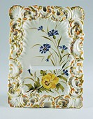 Porcelain frame with floral decoration