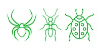 Green Nature Icons. Part 6 _ Insects