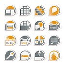 Real Estate icons _ Vector Icon Set