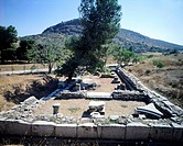 Greece, Boeotia, Aulis, Remains of Artemis Temple,5th Century BC, Ancient Greece
