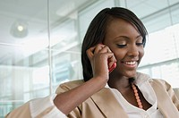 Young businesswoman on cell phone