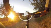 man riding a bike at the nature