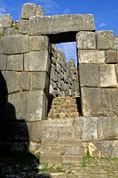 Sacsayhuaman, Cuzco, Peru  Stonework and Doorway