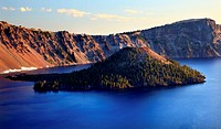 Wizard Island Crater Lake National Park Oregon Pacific Northwest