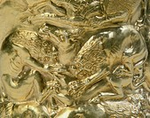 Decorative detail from ritual object with scenes of fighting between animals, detail, Goldsmith art, Scythian Civilization, 5th Century BC
