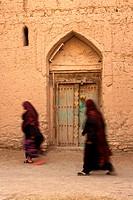 Arab women in the village of Birkat Al Mouz in the Sultanate of Oman.