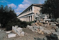 Low angle view of Stoa Of Attalos, Ancient Agora, Athens, Greece