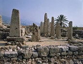 The Temple of the Obelisks of Biblo or Byblos (UNESCO World Heritage List, 1984), Lebanon. Middle of the Bronze Age, end 19th Century BC.