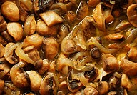 Baked mushrooms with spices and onion