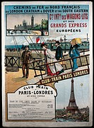 Luxury railway operator Compagnie Internationale des Wagons_Lits et des Grands Express Europeens, Advertising poster about Paris_London route