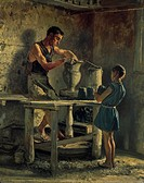 The potters, 1873, by Filippo Palizzi (1818-1899).  Rome, Galleria Nazionale D'Arte Moderna (National Gallery Of Modern Art)