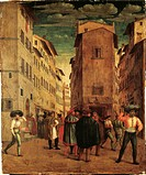 Francesco Ubertini Verdi, known as Bachiacca (1494-1557). A street in Florence.  Amsterdam, Rijksmuseum (Art Museum)