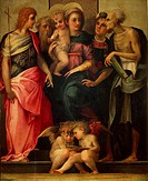 Virgin and Child between St John the Baptist, St Antony Abbot, St Stephen and St Jerome, ca 1518, by Rosso Fiorentino (1494-1540), oil on canvas, 112x...