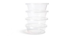 Plastic Containers on White Background