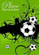 Soccer ball on grunge background, element for design, vector illustration