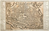 Plan of Ferrara, 1598