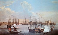 The Port Of Bombay in 1732, India 18th century.  London, British Library, India Office Library And Records
