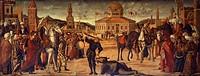 Triumph of St George, by Vittore Carpaccio (ca 1465-1525 or 1526). School of San Giorgio degli Schiavoni, Venice.