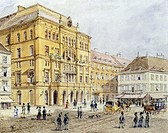 The Karl theatre in Vienna, Austria 19th Century. Watercolour.  Vienna, Historisches Museum Der Stadt Wien (History Museum)