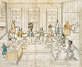 Banquet at a Prince's palace, Germany 18th Century.  Paris, Bibliothèque Des Arts Decoratifs (Library)