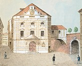 Corinthian Gate theatre in Vienna, Austria 19th Century. Watercolour by Franz Sager (1821-1891).  Vienna, Historisches Museum Der Stadt Wien (History ...
