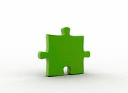 Green puzzle piece environmental concept