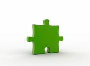 Green puzzle piece environmental concept
