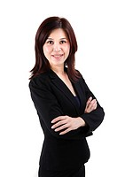 confident asian business woman
