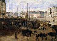 Opening of the Avenue de l'Opera in Paris, 1878, by Giuseppe De Nittis (1846-1884).  Paris, Hôtel Carnavalet (Art Museum)