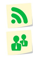 Vector Illustration of Rss and User Icons