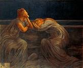 Nocturne, 1908, by Gaetano Previati (1852-1920).  Gardone Riviera, Museo Dannunziano Del Vittoriale (D'Annunzio'S House)