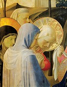 The Deposition from the Cross or the Altarpiece of the Holy Trinity, ca 1432, by Giovanni da Fiesole known as Fra Angelico (1400-ca 1455), tempera on ...