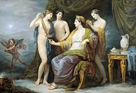 The Juno bathing or Juno attired by the Graces, by Andrea Appiani (1754-1817), oil on canvas, 100x142 cm.  Brescia, Pinacoteca Tosio-Martinengo (Art G...