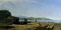 The gulf of La Spezia, 1864-1867, by Tammar Luxoro (1825-1899).  Genoa, Museo Dell'Accademia Ligustica Di Belle Arti (Art Museum)