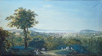 Naples from Capodimonte Scudillo, Salvatore Fergola (1799-1874), watercolour, Italy 18th-19th Century.  Naples, Museo Dell'Appartamento Storico Del Pa...