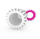 3d gear purple pink machine business technology engine