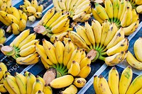 Bunch of fresh banana in market , Asia, Thailand