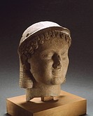 Clay head, from Medma, near Rosarno, Calabria, Italy, Italic Civilization, 6th and 5th Centuries BC