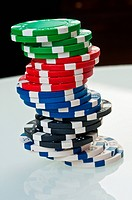 stack of poker color chips