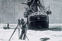 Carsten Egeberg Borchgrevink Antarctic expedition with Southern Cross ship immobilised in ice, 1898
