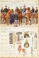 Militaria, Italy, 20th century. Uniforms of the General Staff of the Kingdom of Italy, 1904. Color plate by Quinto Cenni.  Roma, Archivio Dell'Ufficio...