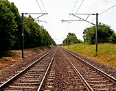 Photo of a railway line