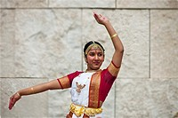 Indian folk dancer-Family Festival at the Getty Center in LA