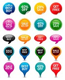 Vector illustration of badges. Professional icons for your print project or website. Easy editable...
